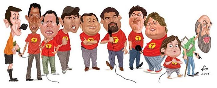 Equipe responsável pela transmissão do futebol na rádio Transamérica - DF