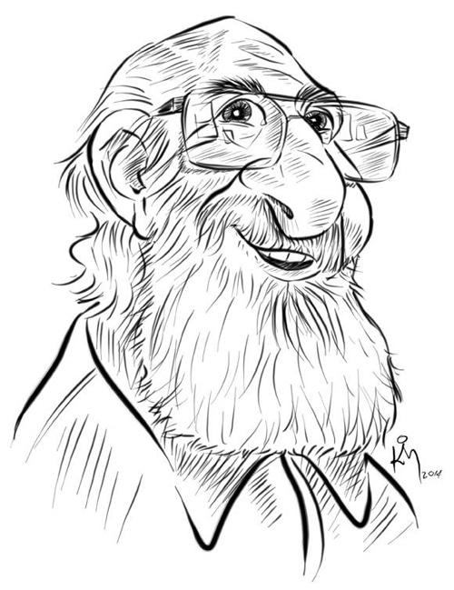 Caricatura Paulo Freire