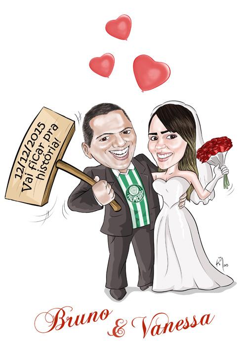 Caricatura_Noivos_Vanessa