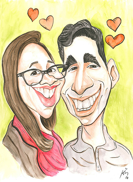 caricatura_casal